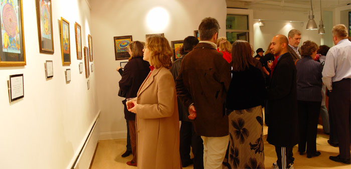 Panorama of the private view