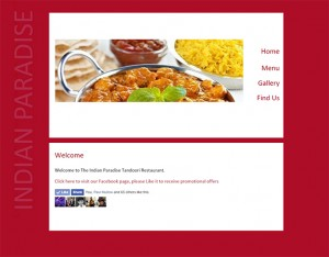 indian restaurant website